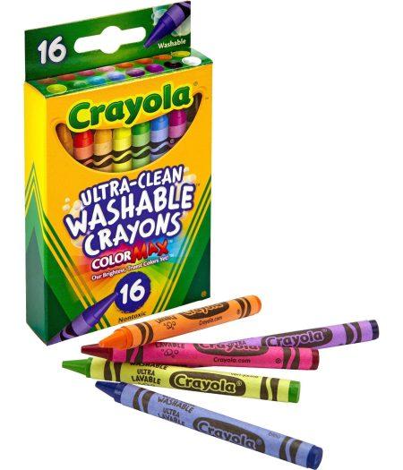 Crayola Ultra-Clean Washable Crayons Regular 16 Colors 2
