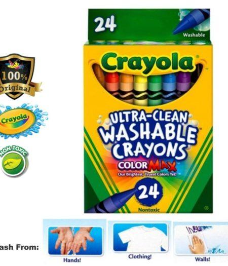 Crayola Washable Crayons School Supplies 24 Count 2