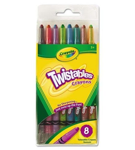Crayola Twistable Crayons 8 Traditional Colors Set for Kids 1