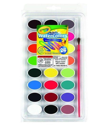 Crayola Washable Paint Palette 24 Colours Craft Kit 1