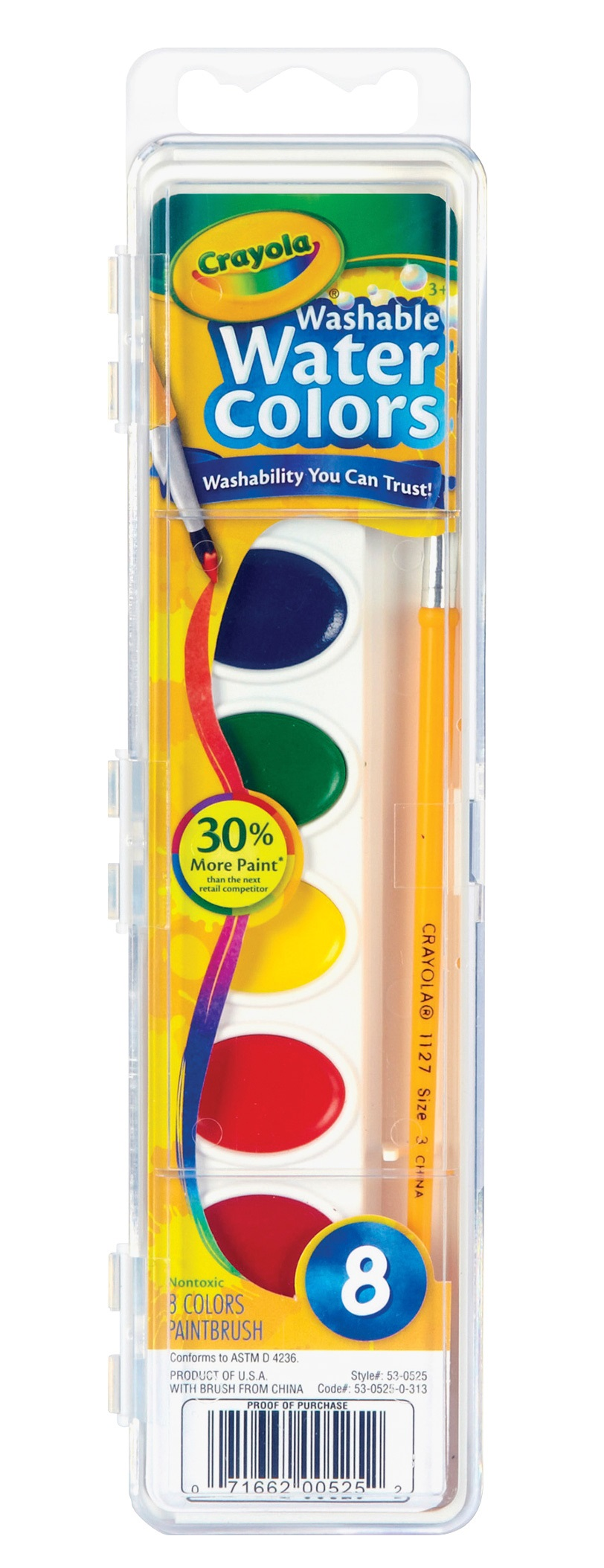 Crayola Washable Watercolour Paint 8 Pack 4