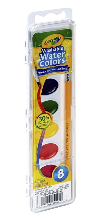 Crayola Washable Watercolour Paint 8 Pack 2