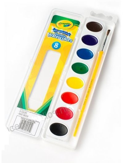 Crayola Washable Watercolour Paint 8 Pack 1