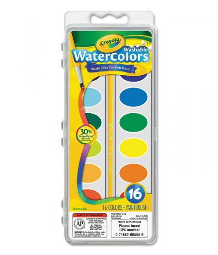Crayola Washable Watercolor Paint 16 Colors 1