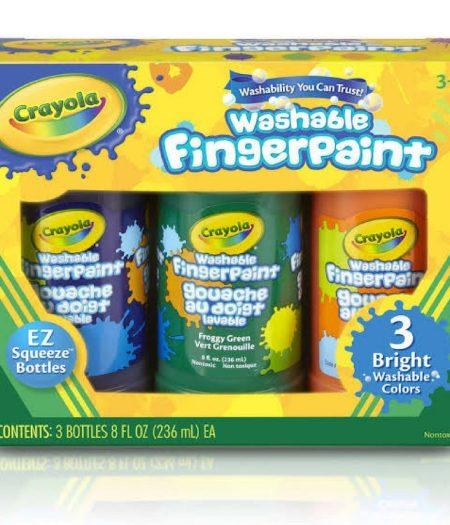 Crayola Washable Bright Fingerpaint 3 Colors 2