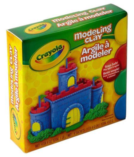 Crayola 4 Color Modeling Clay 1