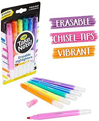 Crayola Take Note Slim Erasable Highlighters 6 Pieces 4