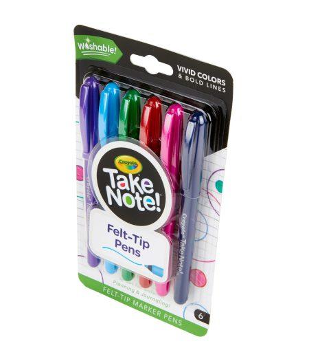 Crayola Take Note 6 Washable Felt-Tip Pens 3