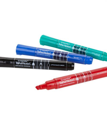 Crayola Take Note 4-Count Assorted Color Chisel Tip Dry Erase Markers 1