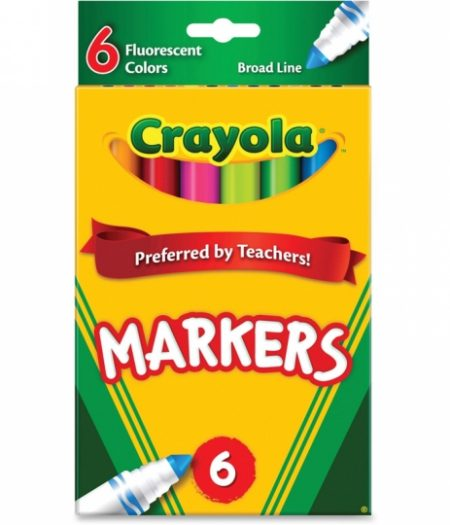 Crayola Classic Broad Line Fluorescent 6 Markers 2