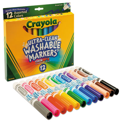 Crayola Ultra Clean Washable 12 Markers Color Max 1
