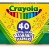 Crayola Ultra-Clean 40 Count Fine Point Washable Markers 2