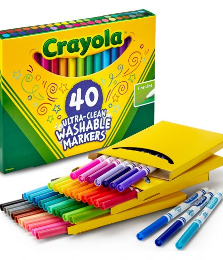 Crayola Ultra-Clean 40 Count Fine Point Washable Markers 4