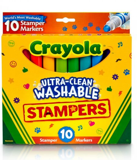 Crayola Ultra-Clean Washable Stamper 10 Markers 2