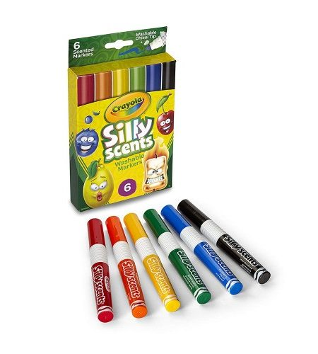 Crayola 6ct Silly Scents Washable Color Markers 1