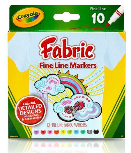 Crayola Bright Fabric Fine Line 10 Color Markers 2