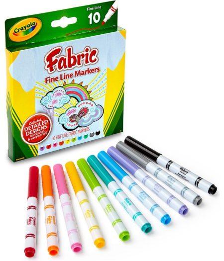 Crayola Bright Fabric Fine Line 10 Color Markers 3
