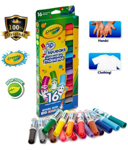 Crayola Washable Markers Pip Squeaks 16 Colors 2