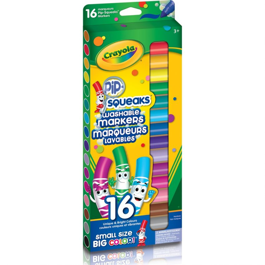 Crayola Washable Markers Pip Squeaks 16 Colors 1