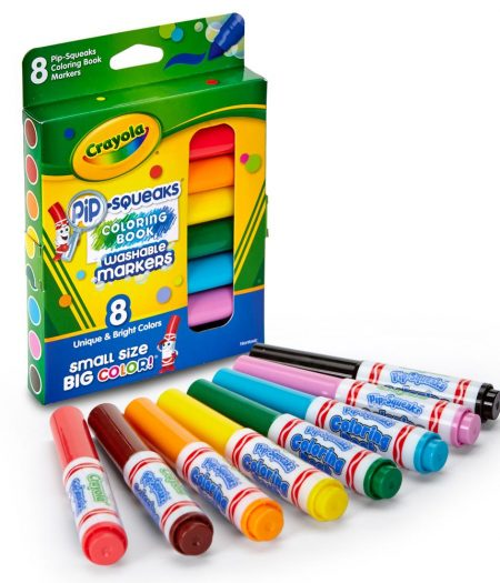 Crayola Pip Squeaks Washable 8 Color Markers