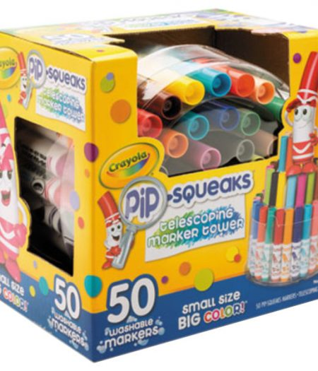 Crayola Pip Squeaks 50 Color Markers Tower