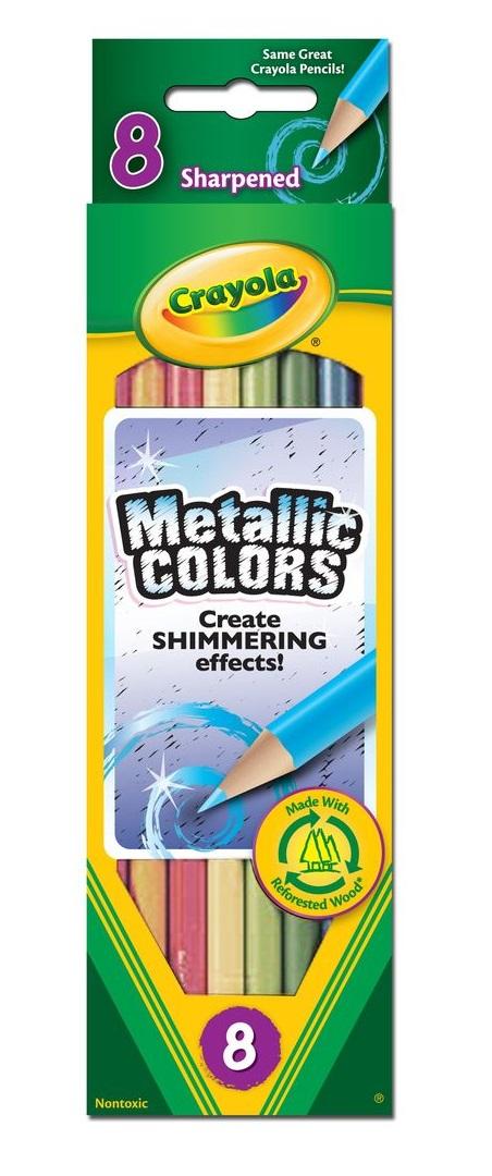 Crayola Metallic 8 Colored Pencils