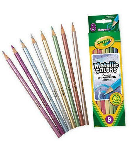 Crayola Metallic 8 Colored Pencils 1