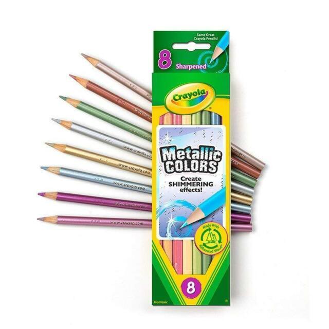 Crayola Metallic 8 Colored Pencils 2