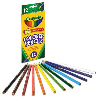Crayola 12pcs Long Barrel Colored Woodcase School Pencils Set