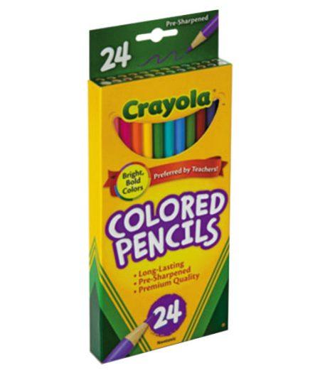Crayola 24 Long 3.3mm Colored Pencils