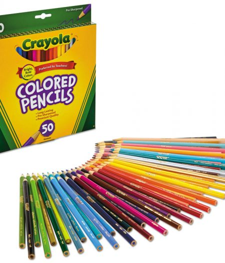 Crayola Long 3.3 mm Colored Woodcase 50 Pencils 1