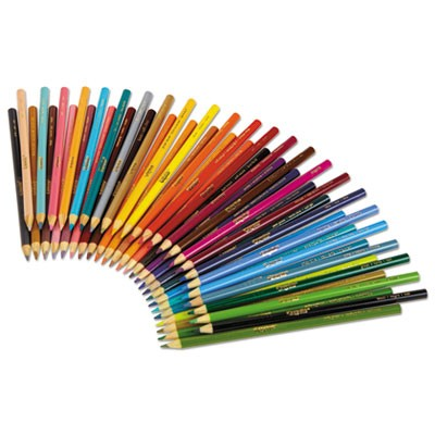 Crayola Long 3.3 mm Colored Woodcase 50 Pencils 3