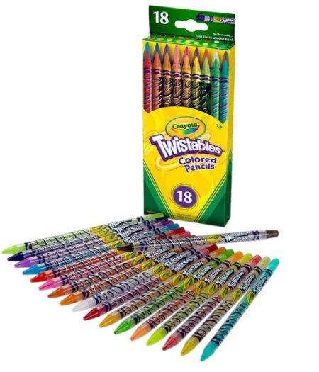 Crayola Twistables 18 Assorted Colored Pencils 2
