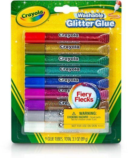 Crayola Bold Washable Glitter 9 Glue Tubes