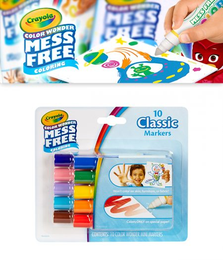 Crayola Colour Wonder Mess Free 10 Classic Mini Marker 1