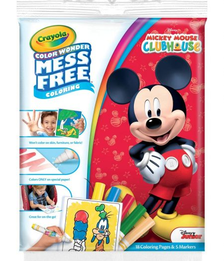 Crayola Mickey and the Roadster racers Color Wonder Mess Free Coloring 1