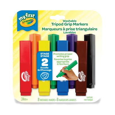 Crayola My First Tripod Washable 8 Markers for Toddlers 1
