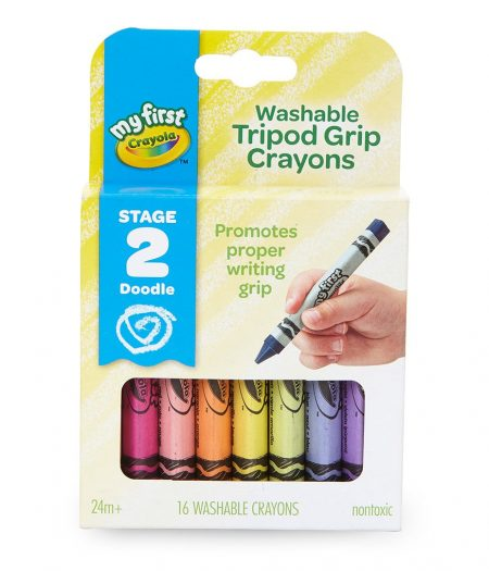 Crayola My First Washable Tripod 16 Crayons for Toddlers 3